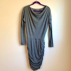 Athleta long sleeve grey dress